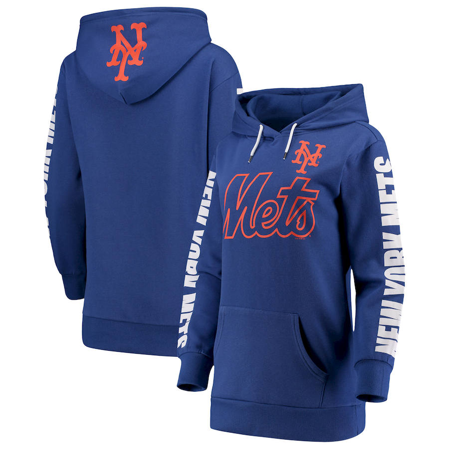 New York Mets G-III 4Her by Carl Banks Women's Extra Innings Pullover Hoodie Royal