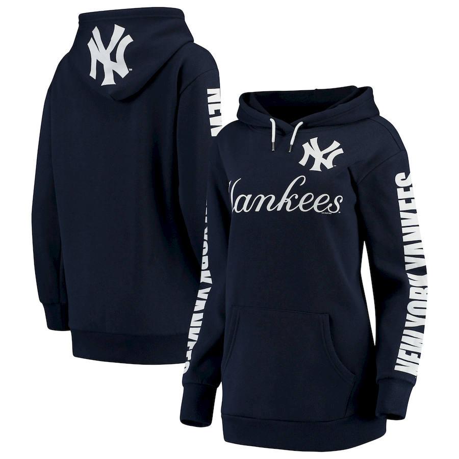New York Yankees G-III 4Her by Carl Banks Women's Extra Innings Pullover Hoodie Navy