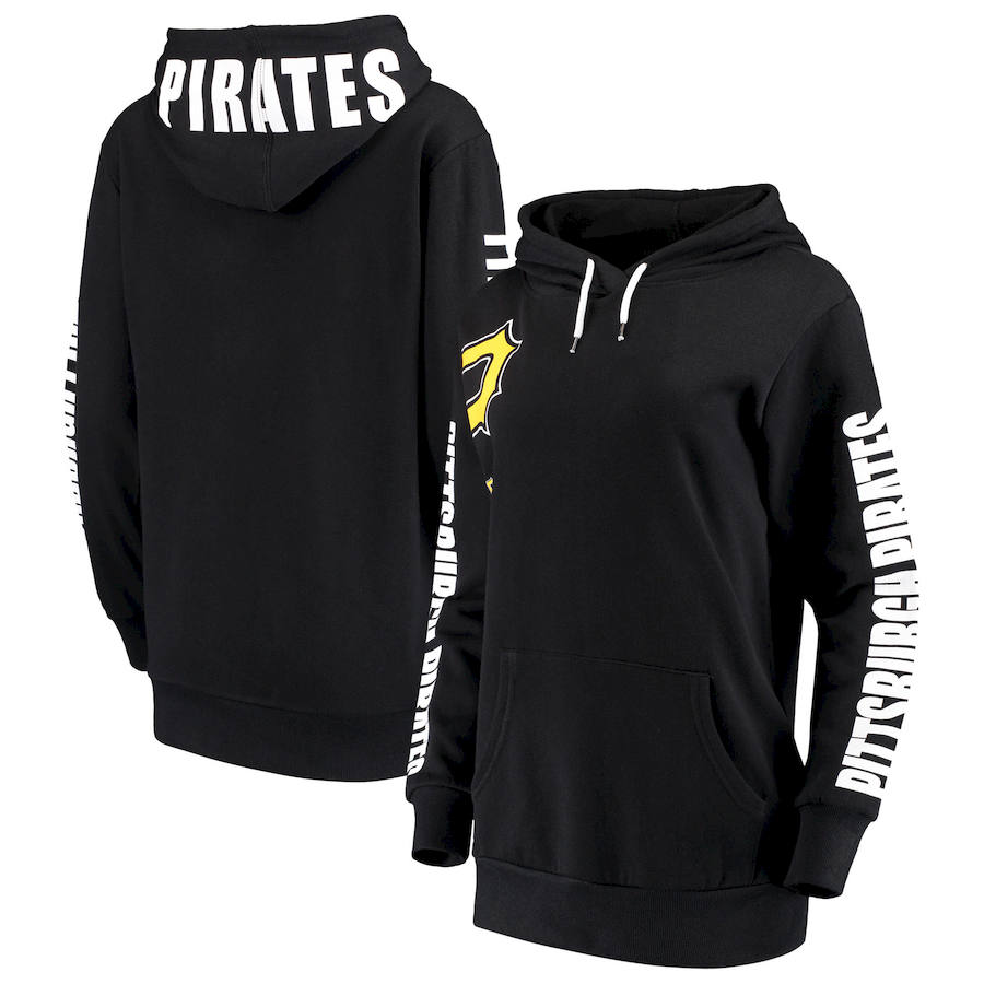 Pittsburgh Pirates G-III 4Her by Carl Banks Women's 12th Inning Pullover Hoodie Black