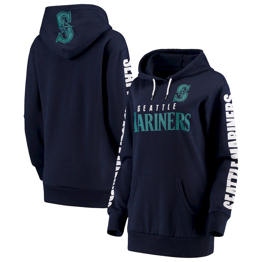 Seattle Mariners G-III 4Her by Carl Banks Women's Extra Innings Pullover Hoodie Navy