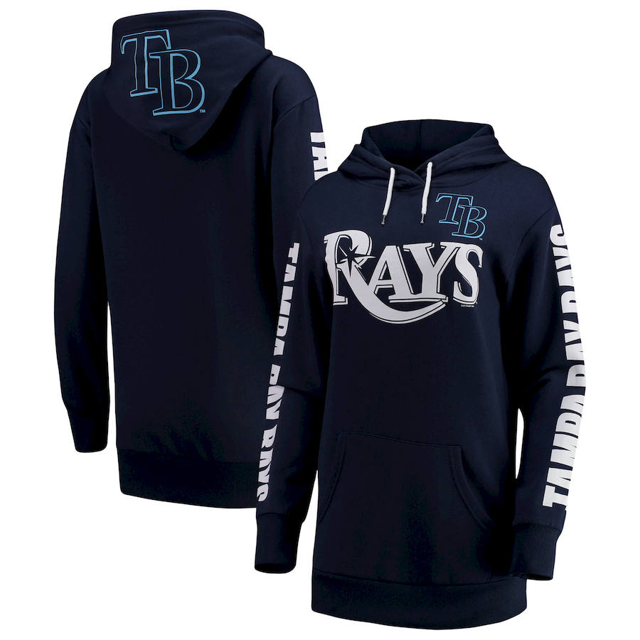 Tampa Bay Rays G-III 4Her by Carl Banks Women's Extra Innings Pullover Hoodie Navy