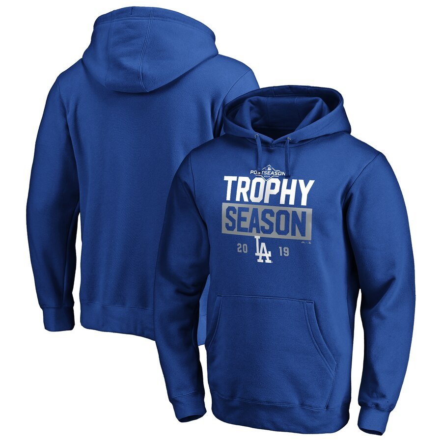 Los Angeles Dodgers Majestic 2019 Postseason Around the Horn Pullover Hoodie Royal