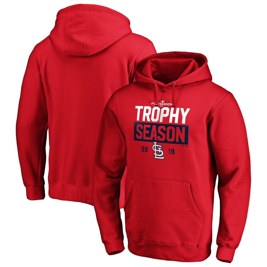 St. Louis Cardinals Majestic 2019 Postseason Around the Horn Pullover Hoodie Red