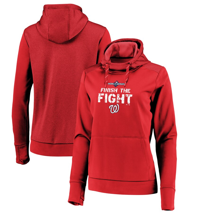 Washington Nationals Majestic Women's 2019 World Series Bound Collection Pullover Hoodie Red