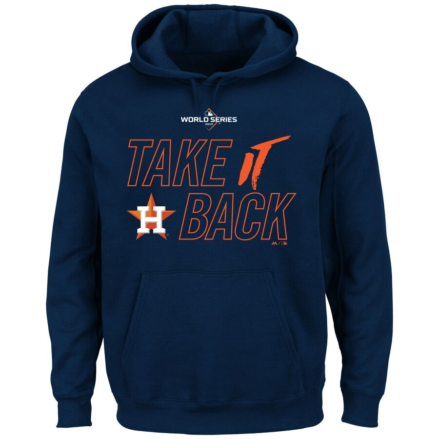 Houston Astros Majestic 2019 World Series Bound Authentic Collection Dugout Big & Tall Pullover Hoodie Navy