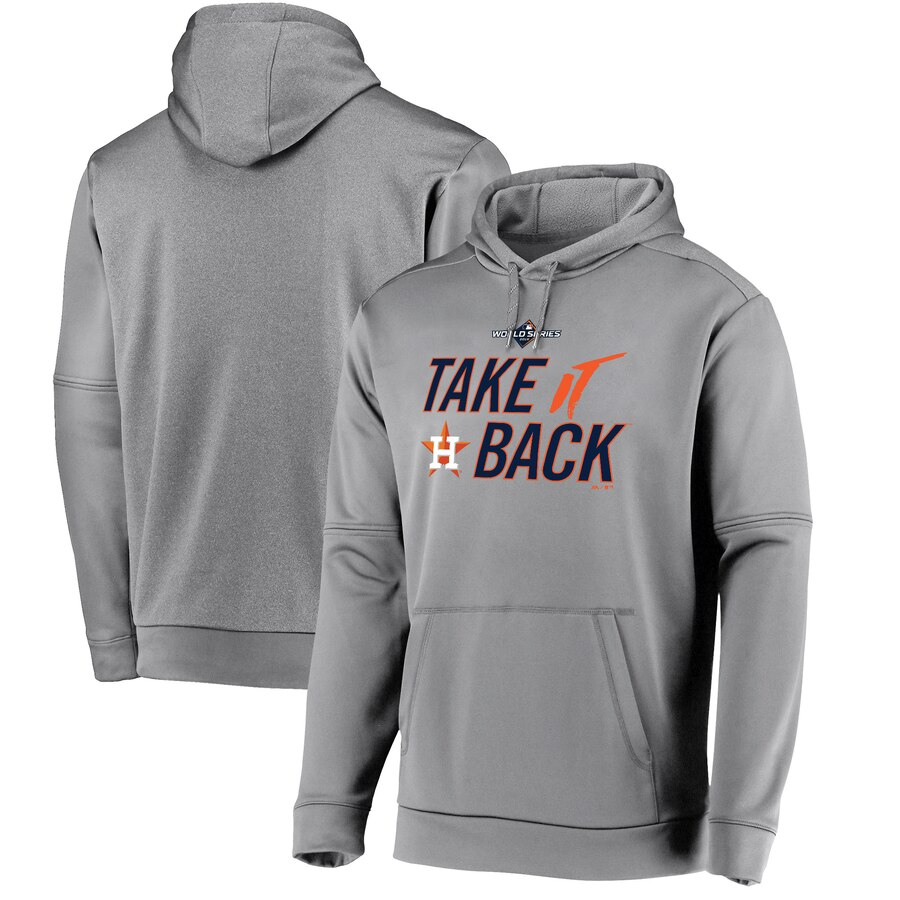 Houston Astros Majestic 2019 World Series Bound Authentic Collection Dugout Pullover Hoodie Gray