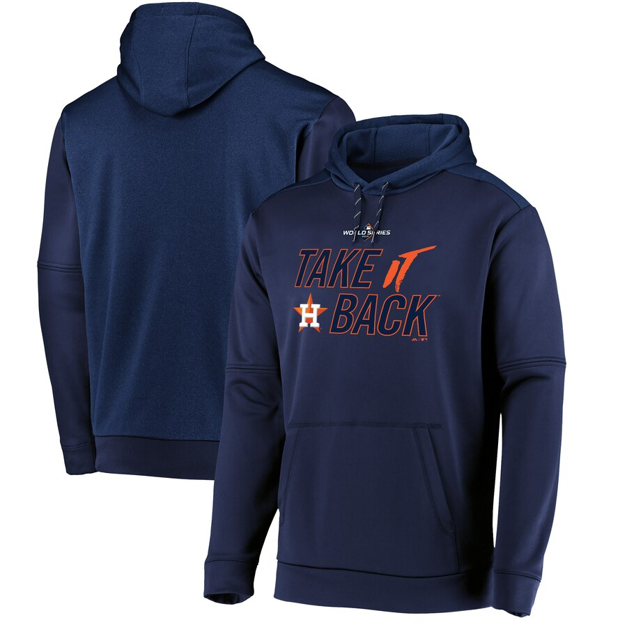 Houston Astros Majestic 2019 World Series Bound Authentic Collection Dugout Pullover Hoodie Navy