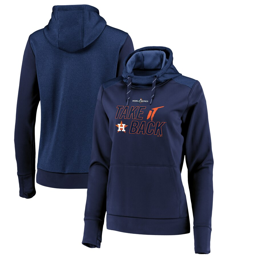 Houston Astros Majestic Women's 2019 World Series Bound Authentic Collection Pullover Hoodie Navy