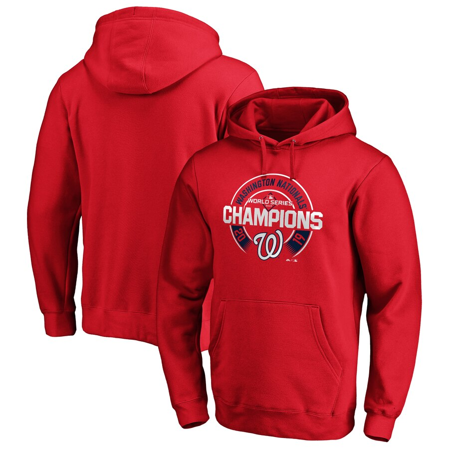 Washington Nationals Majestic 2019 World Series Champions Forkball Pullover Hoodie Red