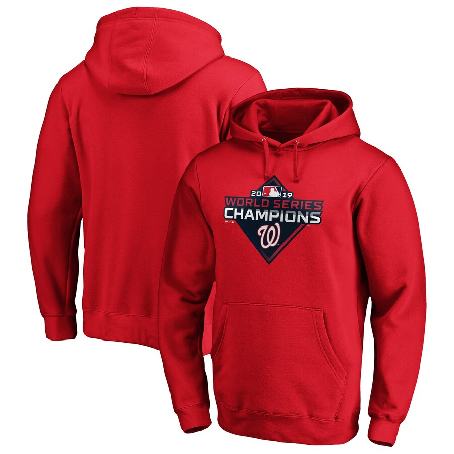 Washington Nationals Majestic 2019 World Series Champions Logo Pullover Hoodie Red