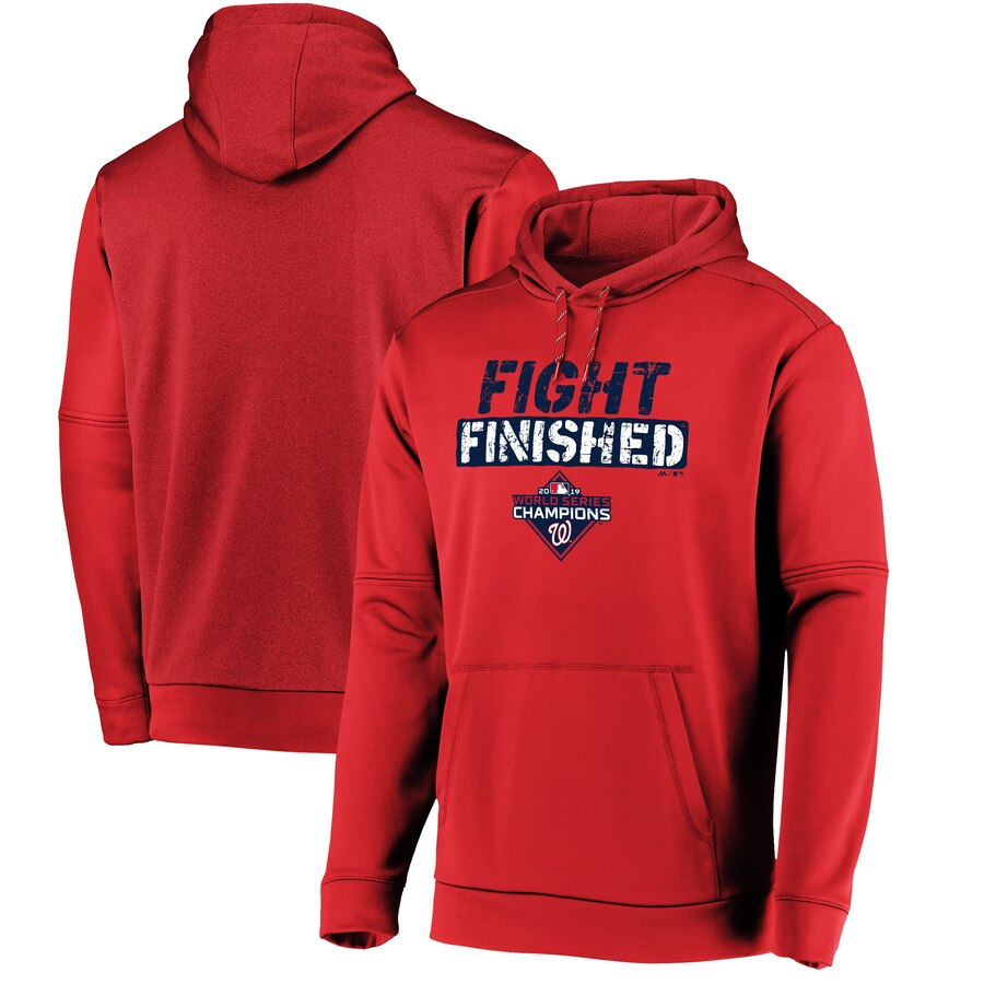 Washington Nationals Majestic 2019 World Series Champions Slogan Pullover Hoodie Red