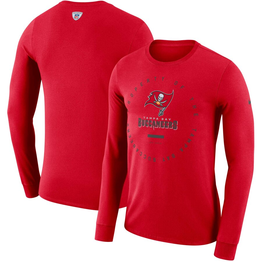 Tampa Bay Buccaneers Nike Property Of Sideline Performance Long Sleeve T-Shirt Red
