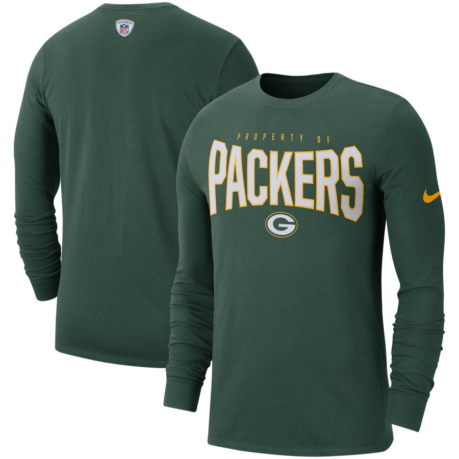 Green Bay Packers Nike Sideline Property Of Performance Long Sleeve T-Shirt Green