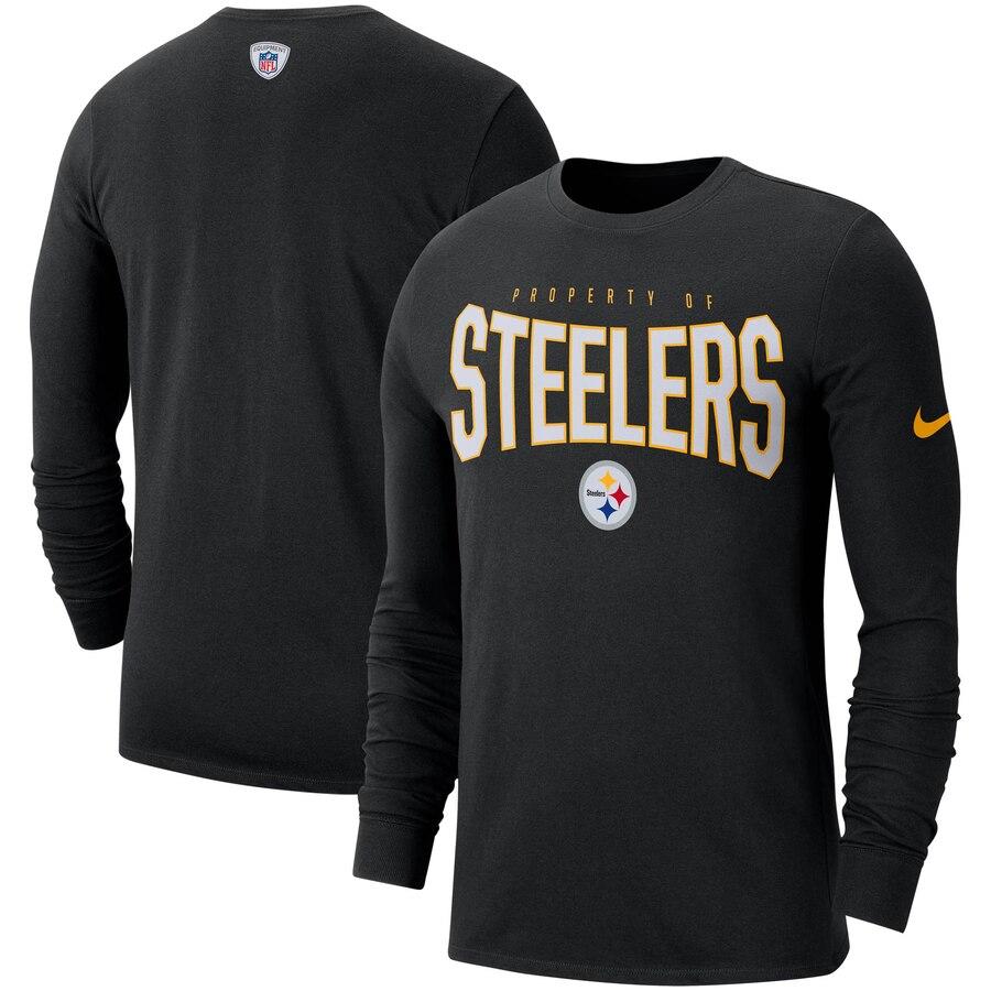 Pittsburgh Steelers Nike Sideline Property Of Performance Long Sleeve T-Shirt Black