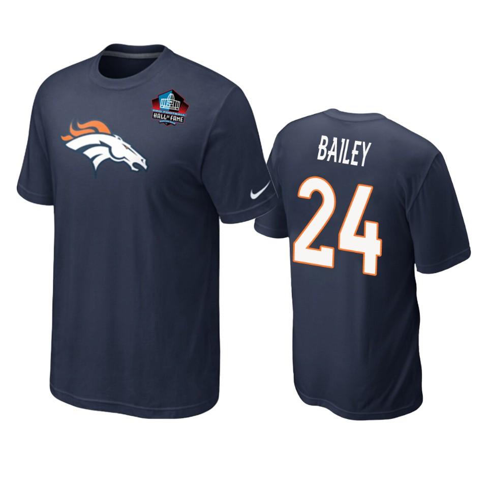 Denver Broncos #24 Champ Bailey Navy Blue 2019 Hall Of Fame NFL T-Shirt