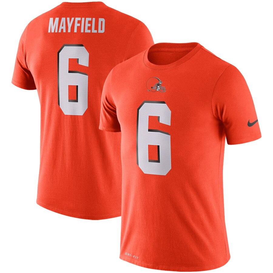 Cleveland Browns #6 Baker Mayfield Nike Player Pride 3.0 Performance Name & Number T-Shirt Orange