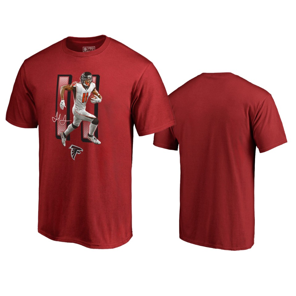 Atlanta Falcons #11 Julio Jones Red Men's Player Graphic Powerhouse T-Shirt