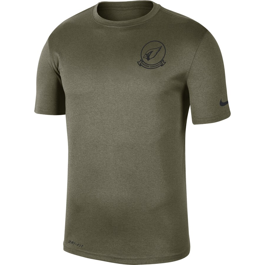 Men's Arizona Cardinals Nike Olive 2019 Salute to Service Sideline Seal Legend Performance T-Shirt