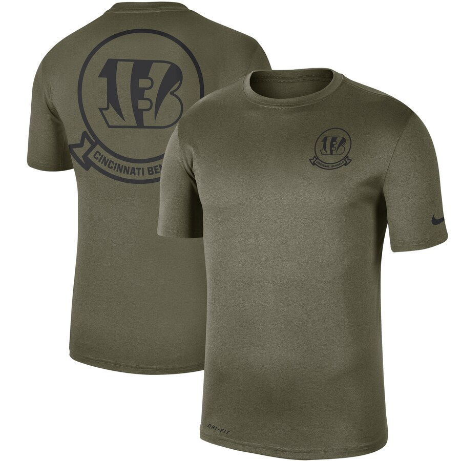 Men's Cincinnati Bengals Nike Olive 2019 Salute to Service Sideline Seal Legend Performance T-Shirt