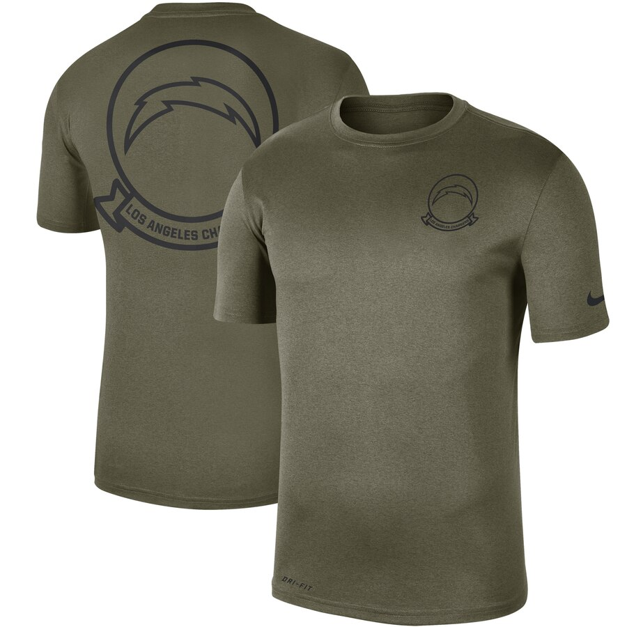 Men's Los Angeles Chargers Nike Olive 2019 Salute to Service Sideline Seal Legend Performance T-Shirt