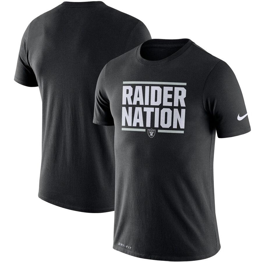 Oakland Raiders Nike Sideline Local Performance T-Shirt Black