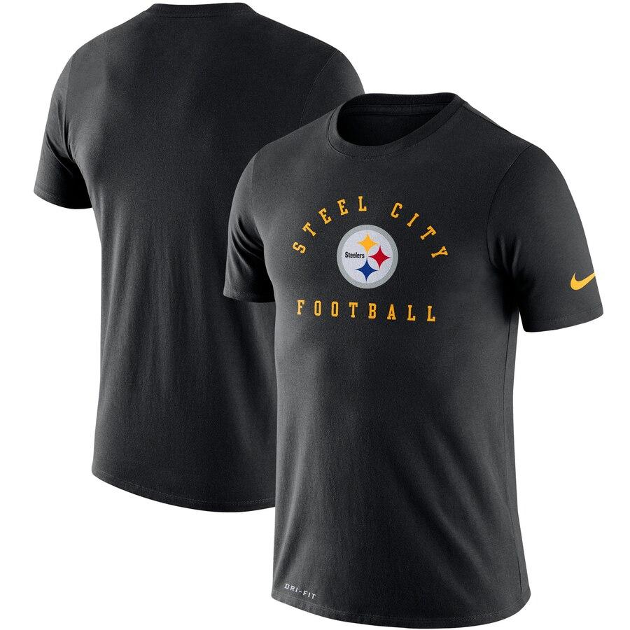 Pittsburgh Steelers Nike Sideline Local Performance T-Shirt Black
