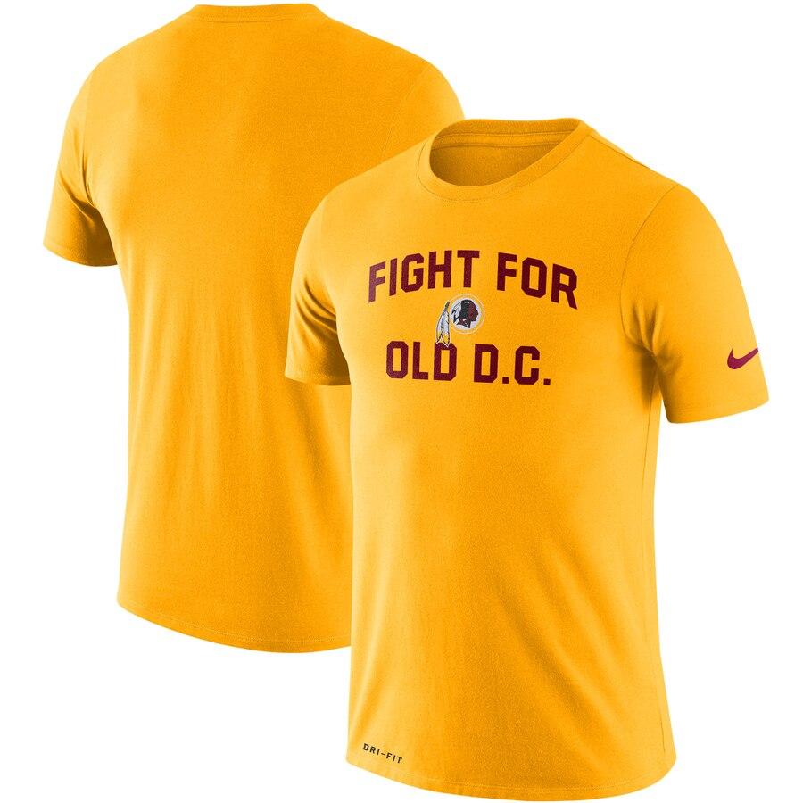 Washington Redskins Nike Sideline Local Performance T-Shirt Gold