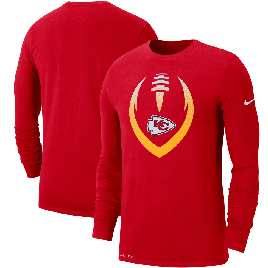 Kansas City Chiefs Nike Fan Gear Modern Icon Performance Long Sleeve T-Shirt Red