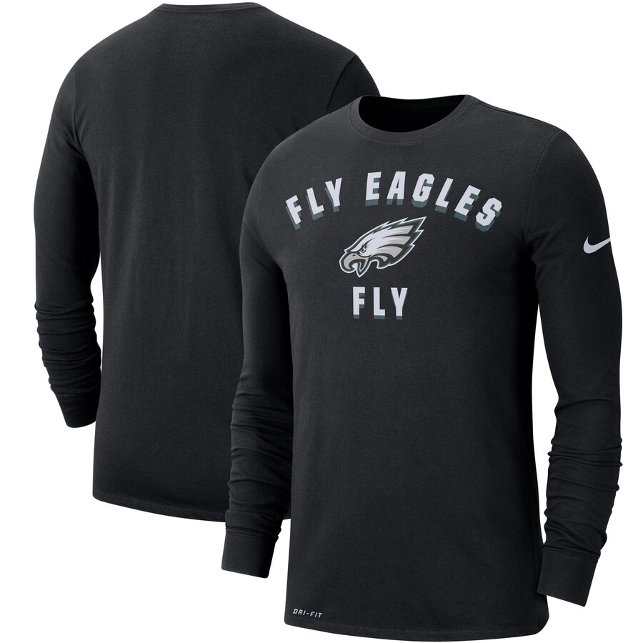 Philadelphia Eagles Nike Sideline Local Performance Long Sleeve T-Shirt Black