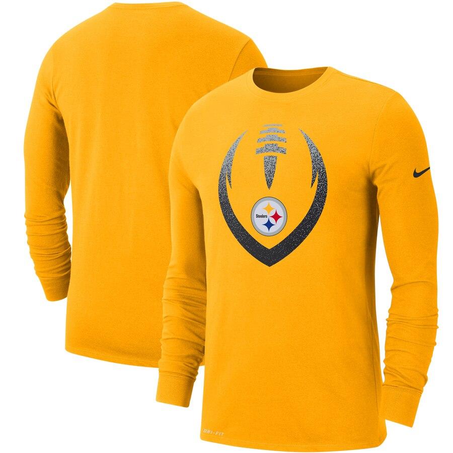 Pittsburgh Steelers Nike Fan Gear Modern Icon Performance Long Sleeve T-Shirt Gold