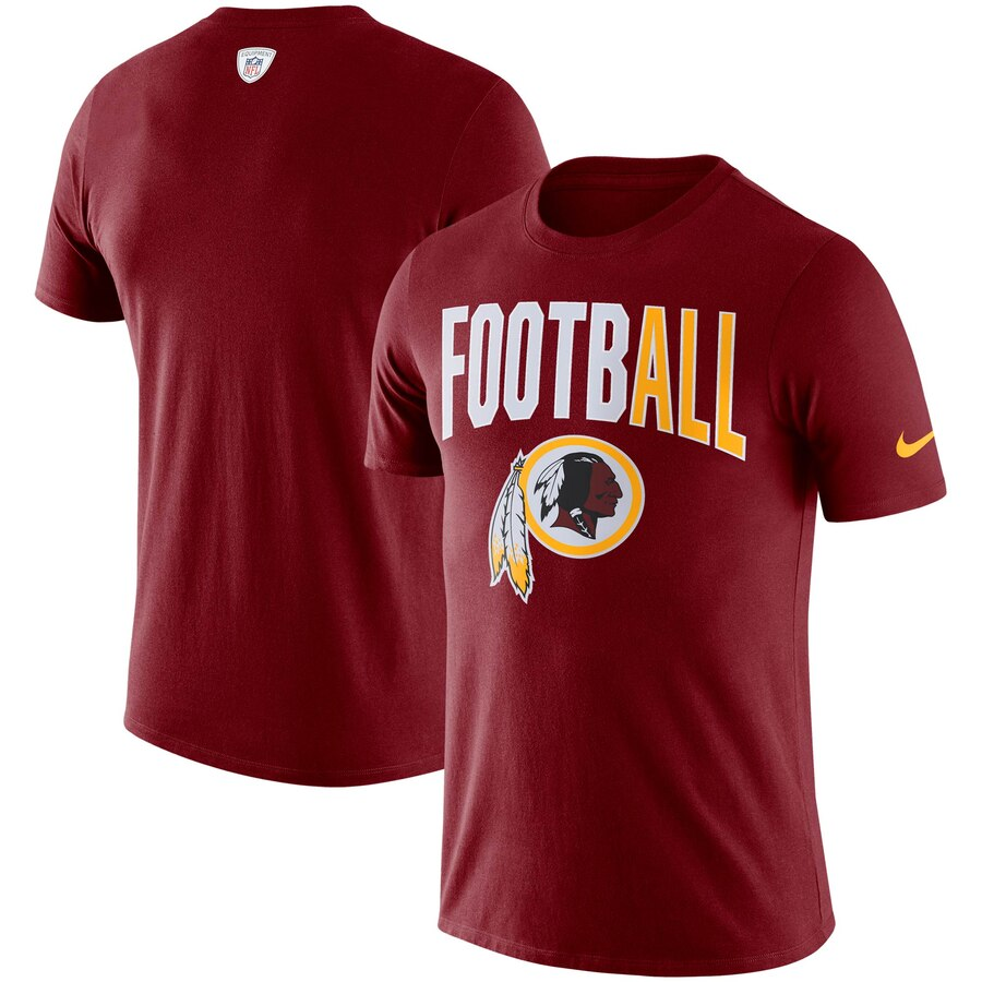 Washington Redskins Nike Sideline All Football Performance T-Shirt Burgundy