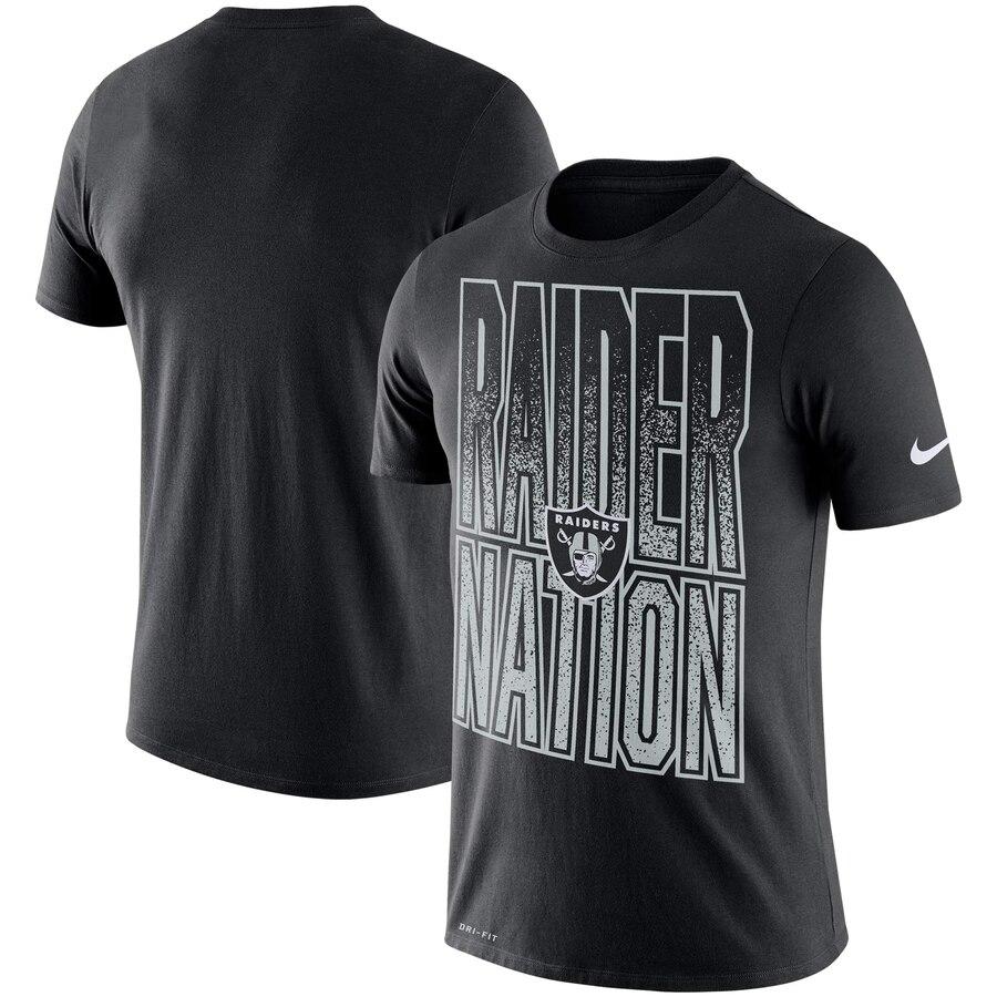 Oakland Raiders Nike Local Verbiage Performance T-Shirt Black