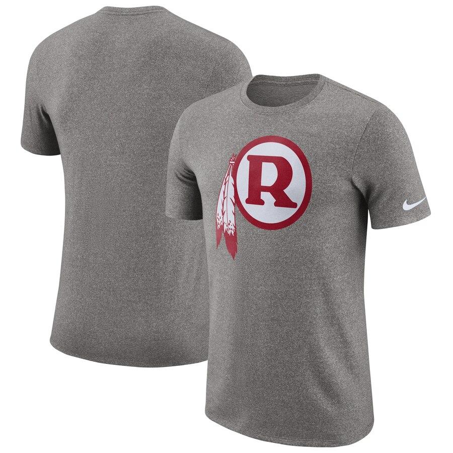 Washington Redskins Nike Marled Historic Logo Performance T-Shirt Heathered Gray