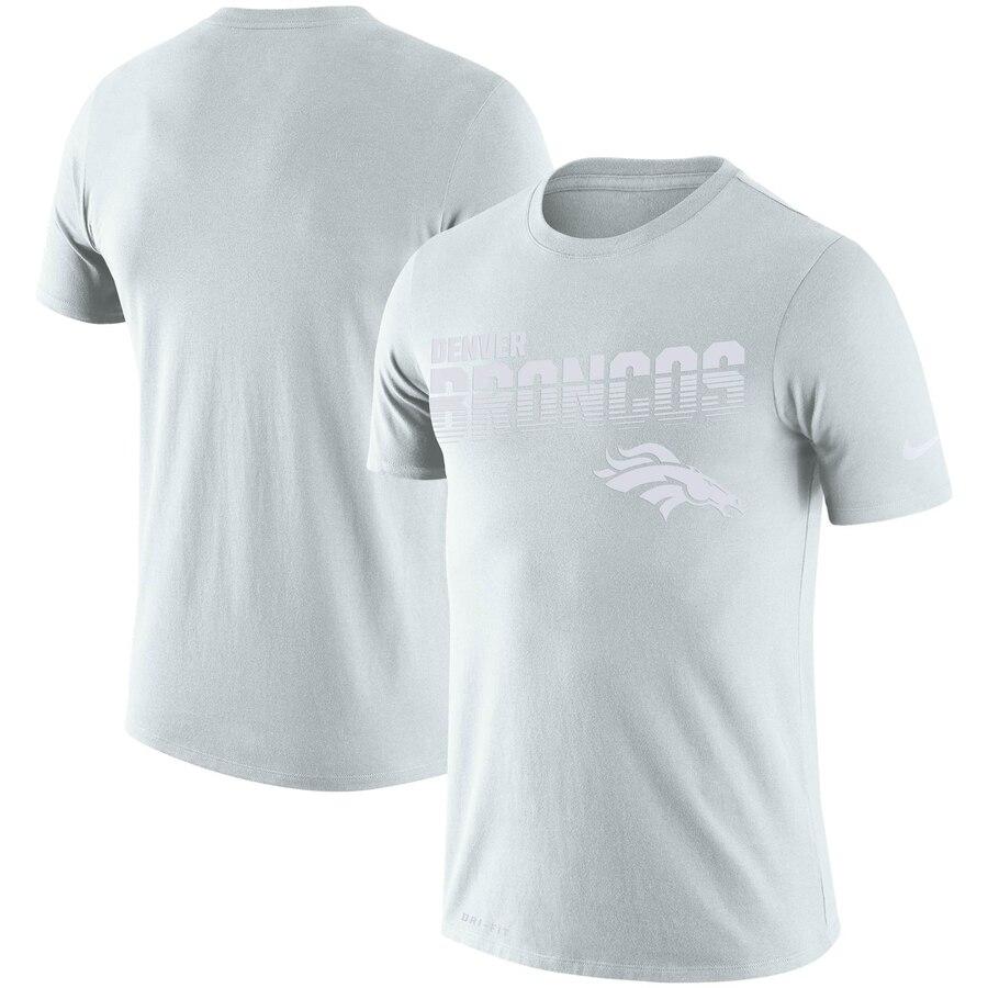 Denver Broncos Nike NFL 100 2019 Sideline Platinum Performance T-Shirt White