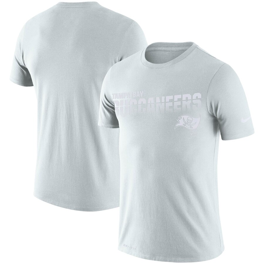 Tampa Bay Buccaneers Nike NFL 100 2019 Sideline Platinum Performance T-Shirt White