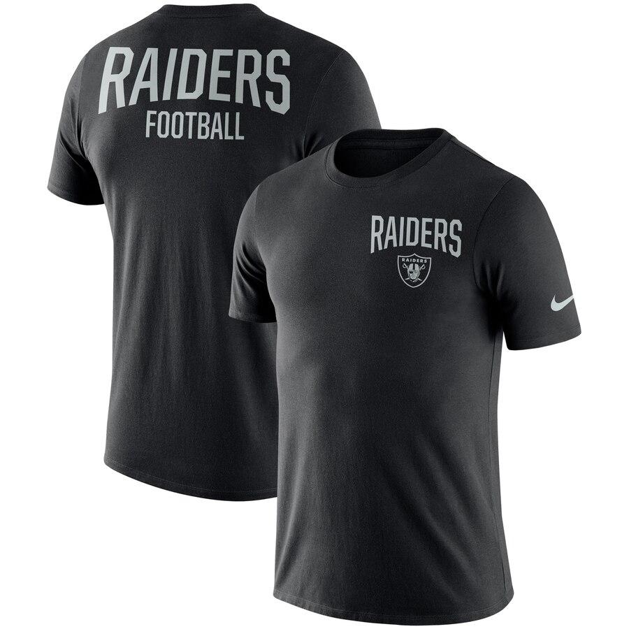 Oakland Raiders Nike Sideline Facility Performance T-Shirt Black