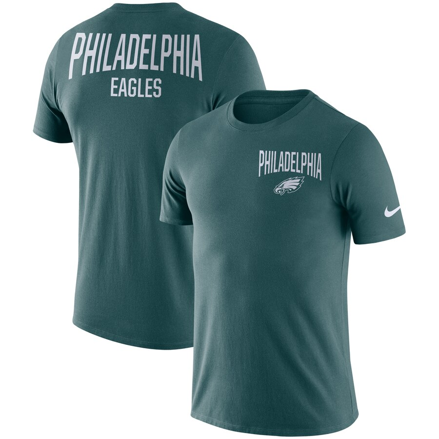 Philadelphia Eagles Nike Sideline Facility Performance T-Shirt Midnight Green