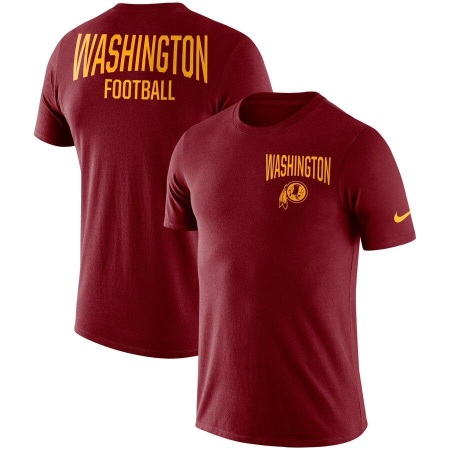 Washington Redskins Nike Sideline Facility Performance T-Shirt Burgundy