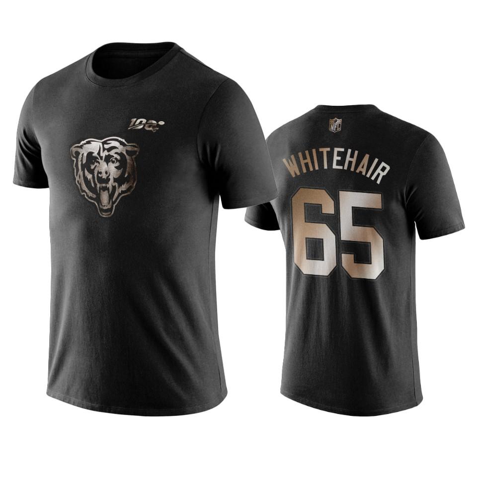 Bears #65 Cody Whitehair Black NFL Black Golden 100th Season T-Shirts