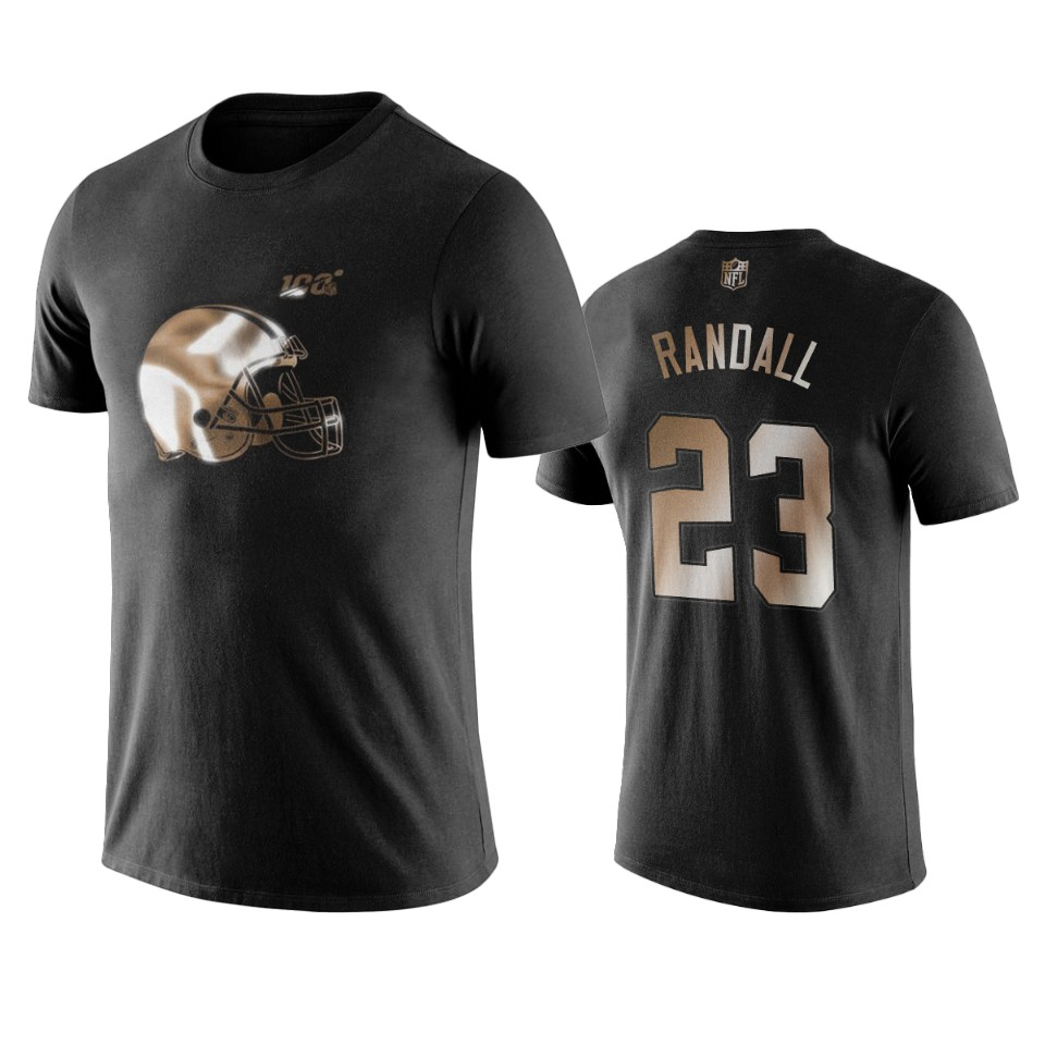 Browns #23 Damarious Randall Black NFL Black Golden 100th Season T-Shirts