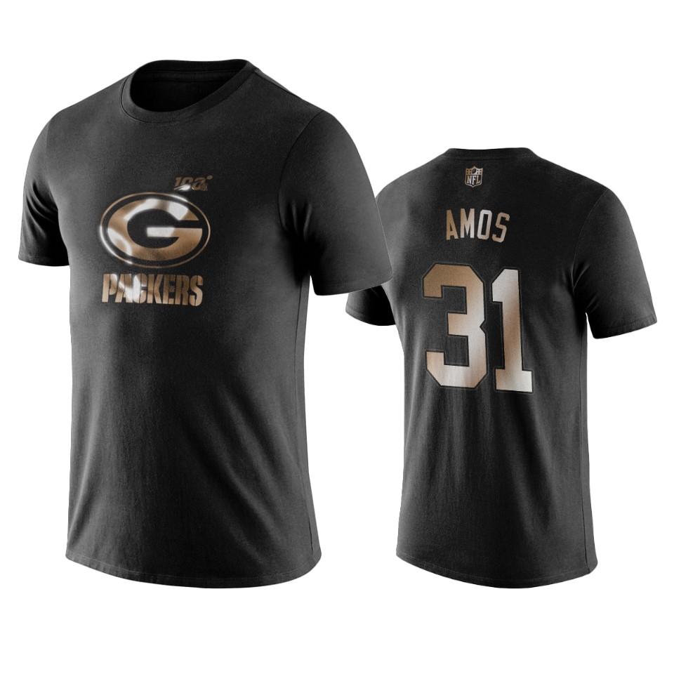 Packers #31 Adrian Amos Black NFL Black Golden 100th Season T-Shirts
