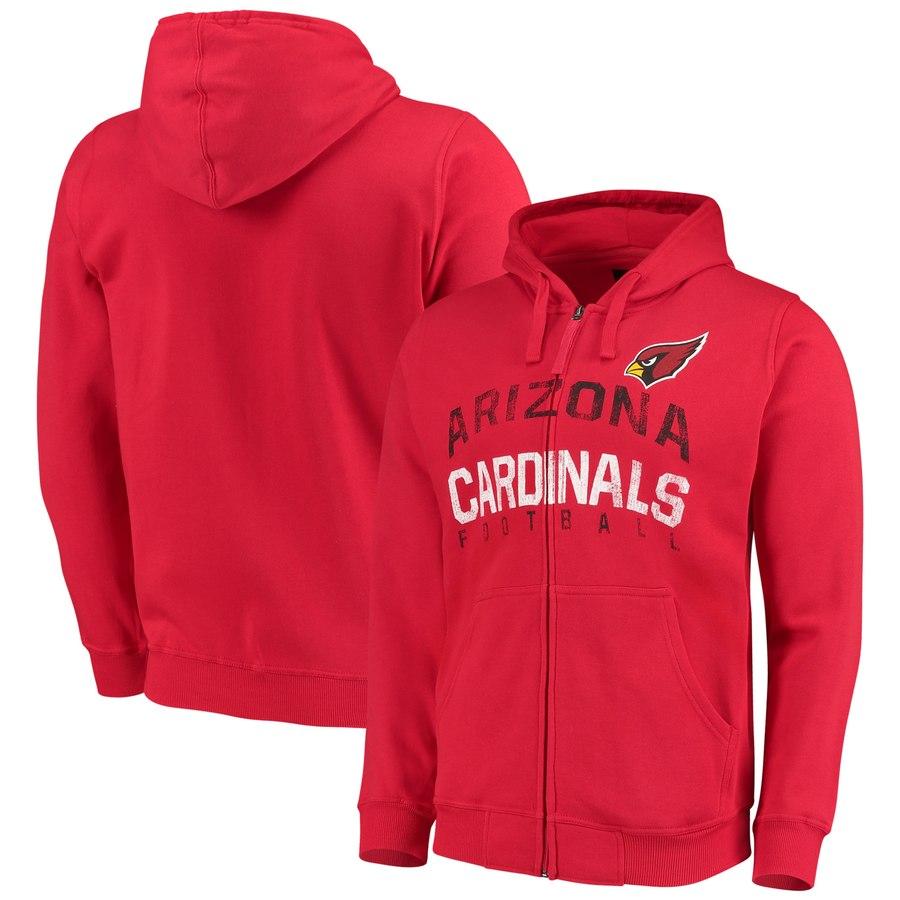 Arizona Cardinals G-III Sports by Carl Banks Post Season Full-Zip Hooded Sweatshirt Cardinal