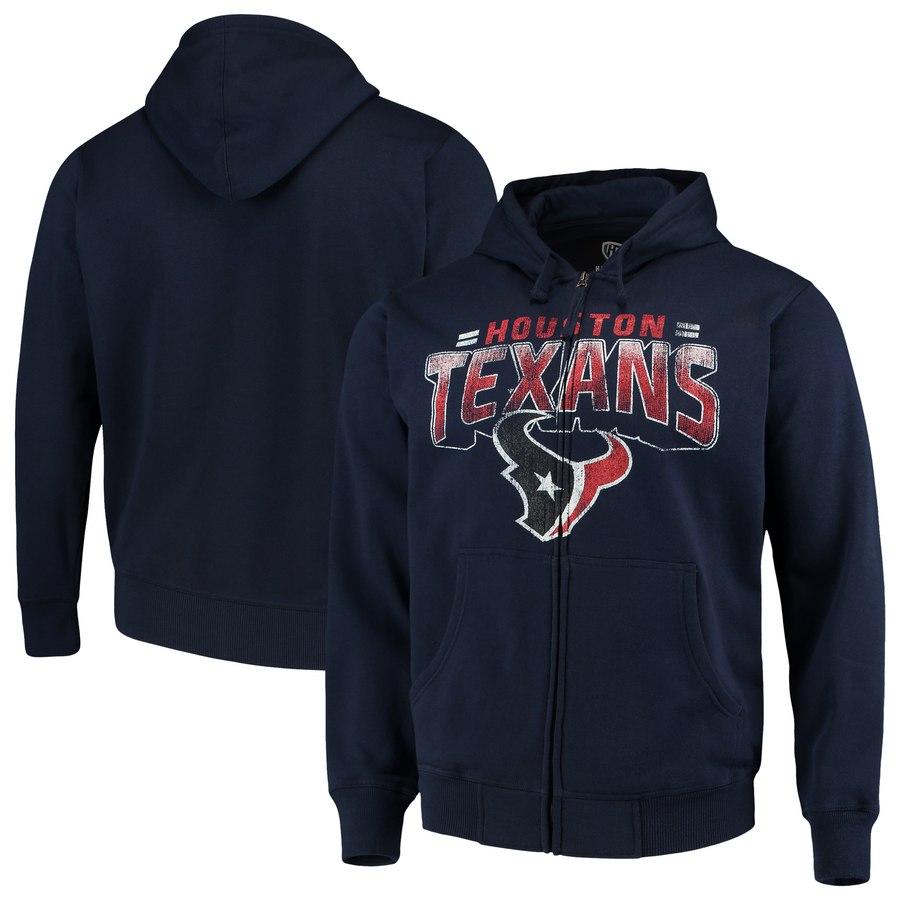 Houston Texans G-III Sports by Carl Banks Perfect Season Full-Zip Hoodie Navy