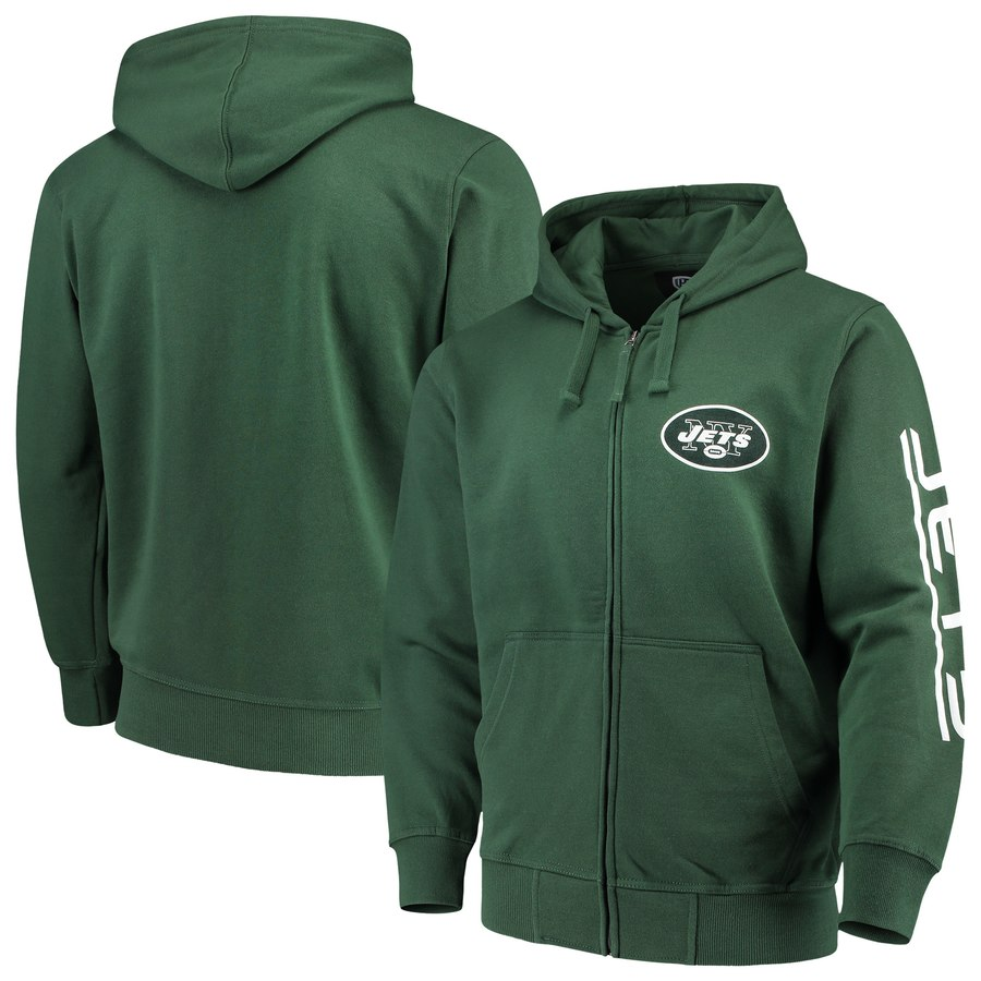 New York Jets G-III Sports by Carl Banks Post Route Full-Zip Hoodie Green