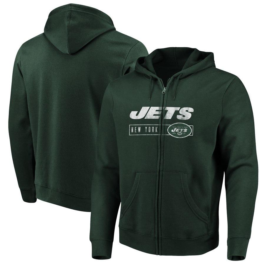 New York Jets Majestic Hyper Stack Full-Zip Hoodie Green