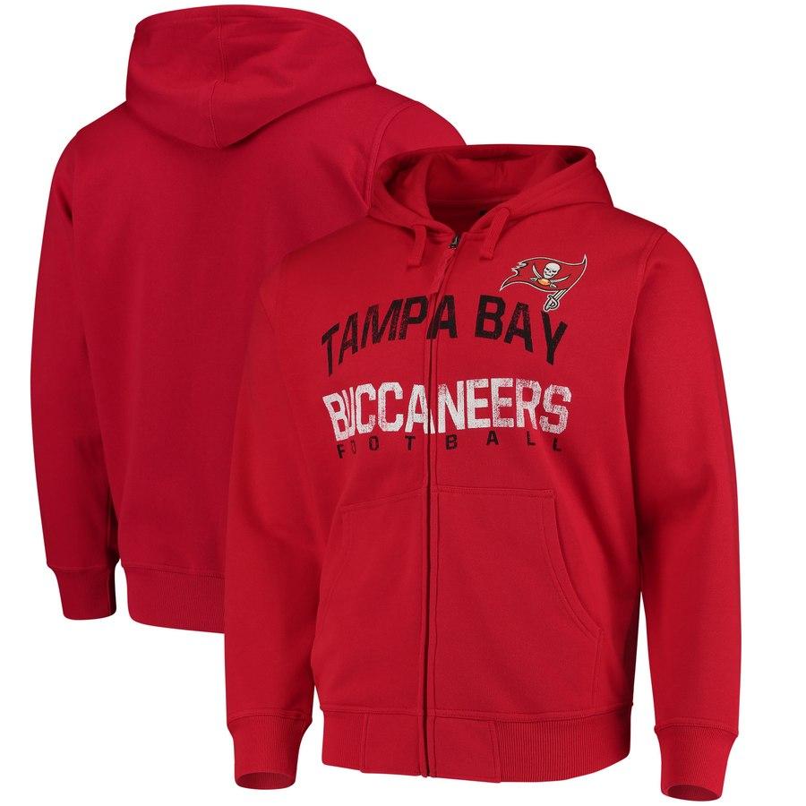 Tampa Bay Buccaneers G-III Sports by Carl Banks Post Season Full-Zip Hooded Sweatshirt Red