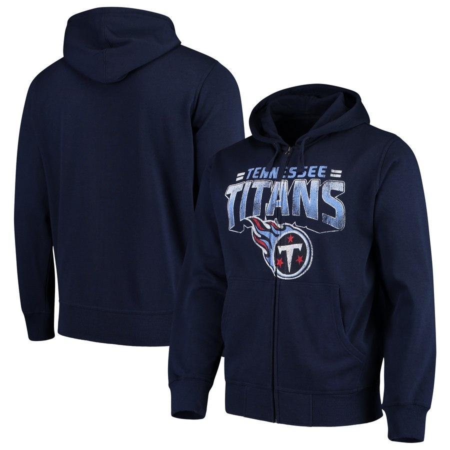 Tennessee Titans G-III Sports by Carl Banks Perfect Season Full-Zip Hoodie Navy