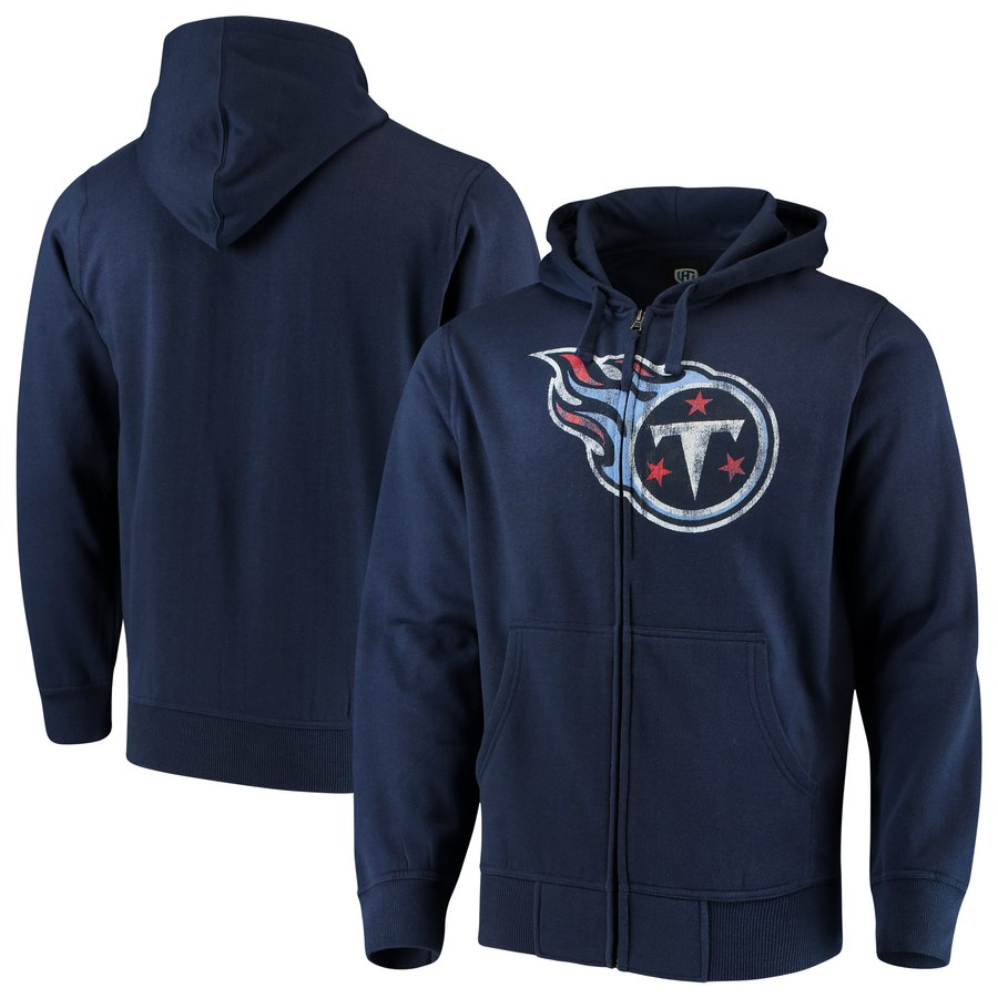 Tennessee Titans G-III Sports by Carl Banks Primary Logo Full-Zip Hoodie Navy