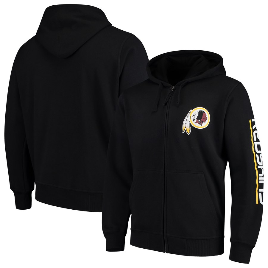 Washington Redskins G-III Sports by Carl Banks Post Route Full-Zip Hoodie Black