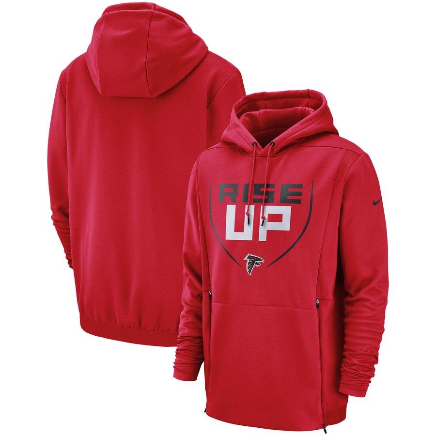 Atlanta Falcons Nike Sideline Local Lockup Performance Pullover Hoodie Red